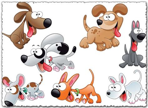 dogs characters characters vector