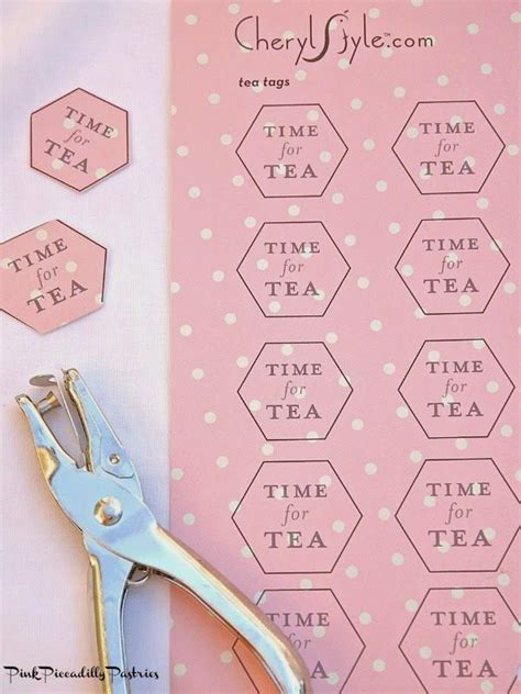 printable name tags for tea party pink piccadilly pastries how to make lemon teabag cookies