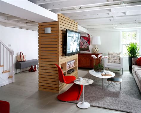 loft like basement renovation contemporary basement