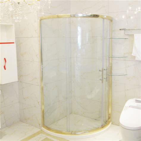 Gold Shower Doors Gold Arc Shower Cabin Sliding Door With Tray Galss Shelf Shower Room Steam With Swing