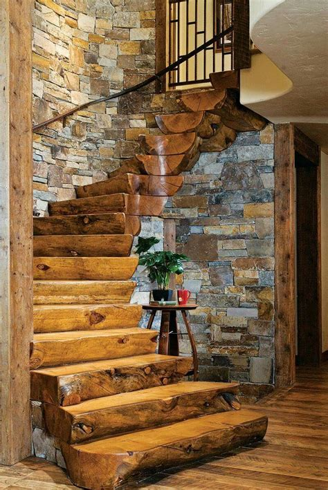cozy cabin rustic cabin interiors pinterest vaulted very cool but not safe stairs pinterest staircases