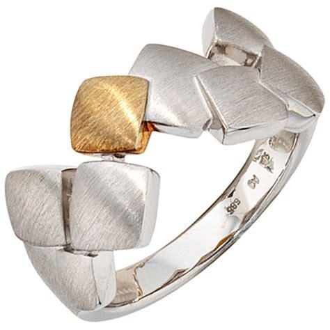 Silber Ringe by Damenring Ring Aus 925 Silber 585 Gold Gelbgold
