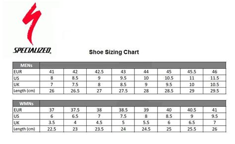road bike shoe sizing specialized s bike frame size chart galleryimage co