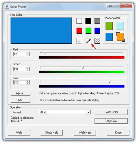 color tool 7 tools to get html color code being used on screen