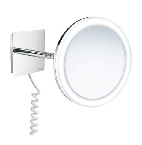 Swing Arm Bathroom Mirror Smedbo Outline Swing Arm Led And Make Up Mirror Pmma