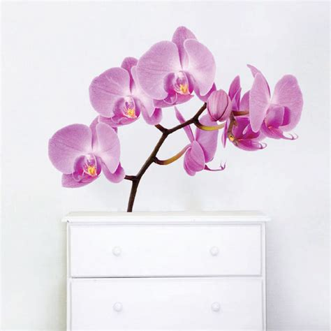 orchid wall stickers orchid wall mural decal beautiful wall decal murals