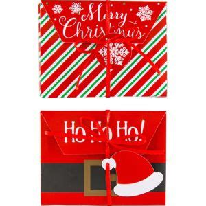 Party City Gift Cards - merry christmas gift card holder boxes 4ct party city