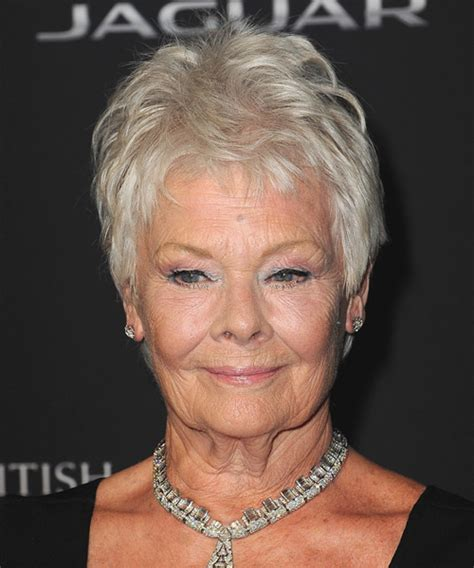 how to get judi dench hairstyle judi dench hairstyle short straight casual light grey