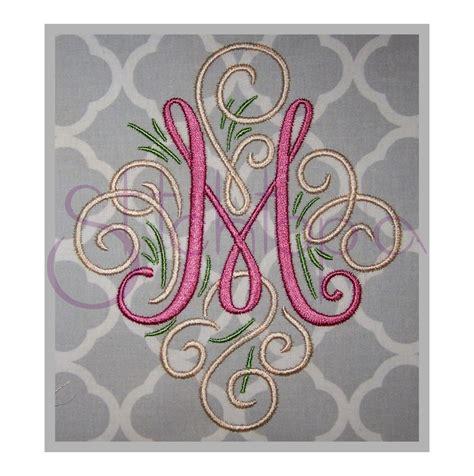 embroidery design monogram adorn embroidery monogram set 3 4 a z swirly machine