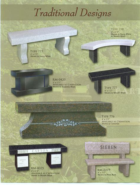 monument benches cremation benches cemetery interior design company