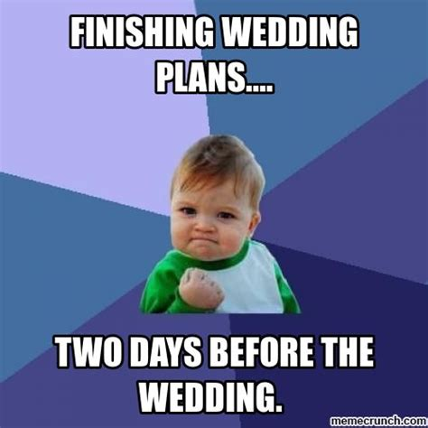 Meme Bridal - success kid on wedding planning wedding memes