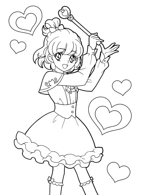 anime magical girl coloring pages anime shojo coloring book おしゃれまとめの人気アイデア pinterest