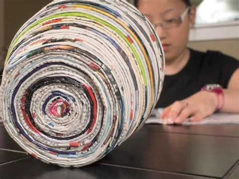 How To Make Paper Bowls From Magazines - how to make a vase out of magazines