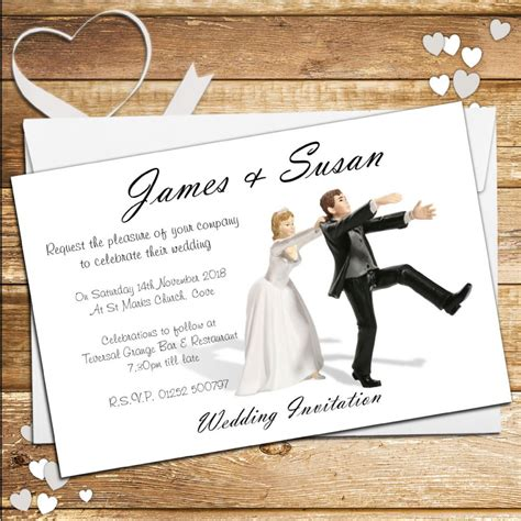 Personalised Wedding Invitations by 10 Personalised Wedding Invitations Day Or Evening N40