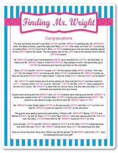 printable finding mr wright wedding ideas