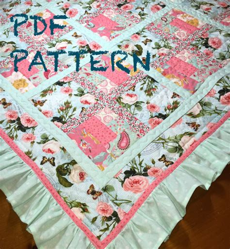 quilt pattern for baby girl easy piecing and a ruffle make a darling quilt quilting