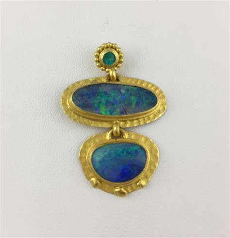 tourmaline opal boulder opal and tourmaline pendant