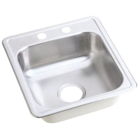 bar sinks top mount elkay dayton top mount stainless steel 17 in 2 hole