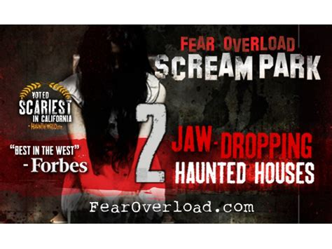 san leandro haunted house fear overload scream park haunted houses return to the sf