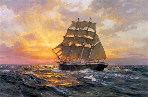 cuadros de veleros cuadros con barcos antiguos pintados al 211 leo en el mar