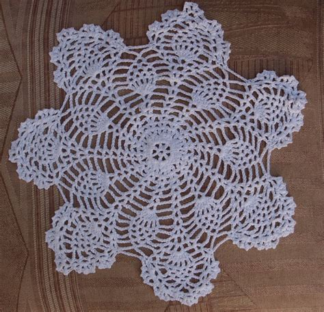 Handmade Crochet Doilies - 8 quot bloom shaped handmade cotton crochet doilies white 2