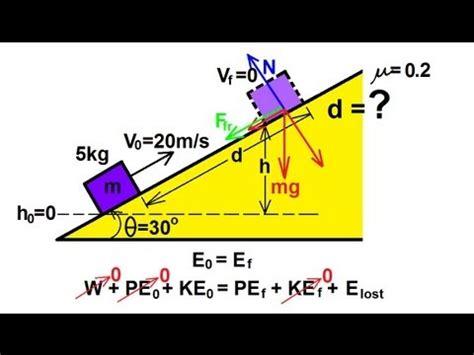 physics incline physics mechanics conservation of energy 3 of 11