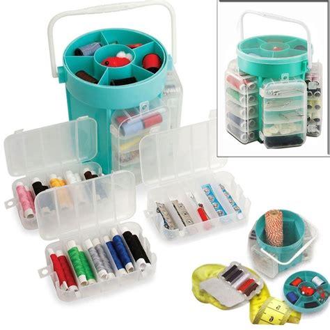 Alat Jahit Set box set alat jahit box penyimpanan dengan peralatan