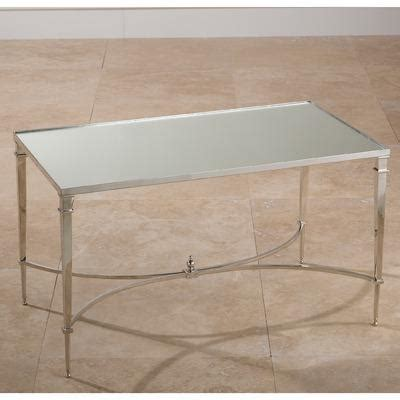 global views coffee table global views square nickel mirror coffee table