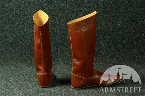 Handmade Leather Boots Renaissance - classic handmade high boots for sale available