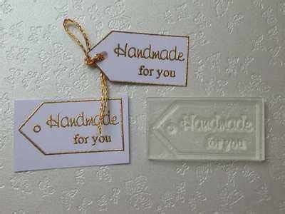 Handmade By Tags - handmade for you gift tag rubber st