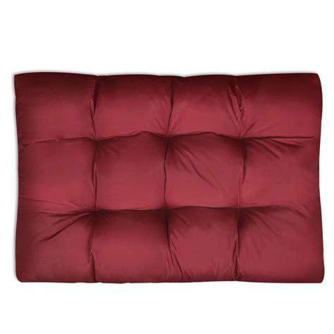 cuscino 80x80 articoli per cuscino da seduta imbottito rosso vino 120 x