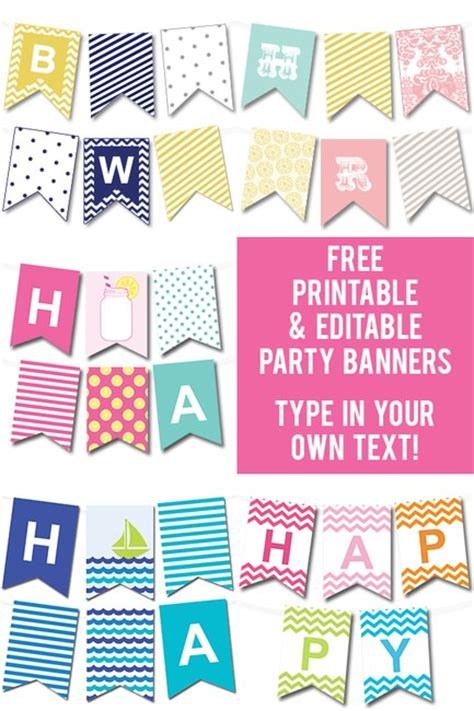 free printable birthday banner download free printable editable party banners tip junkie