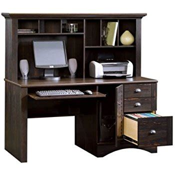 titania computer desk with hutch reclaimed wood homestar writing desk with hutch shoal creek dark brown wood desk