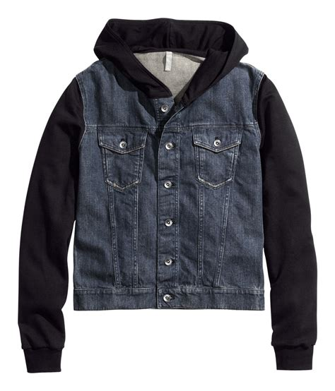 H Jaket h m denim jacket with in blue for lyst