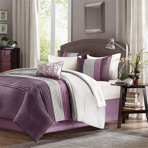 Comforters For Less by Total Fab Purple Plum Colored Bedding Warm Opulent