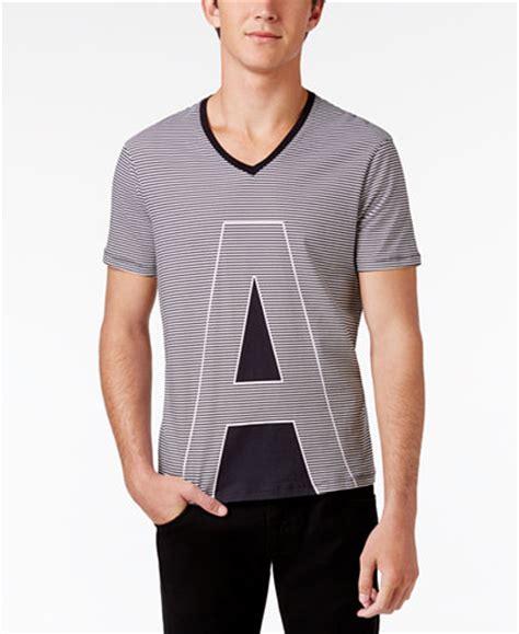 Kaos Blouse Vneck Stripe Ax Armani Exchange S Ax Stripe Logo Cotton V Neck T Shirt