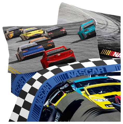nascar bedding nascar full sheet set race car bump drafting bedding