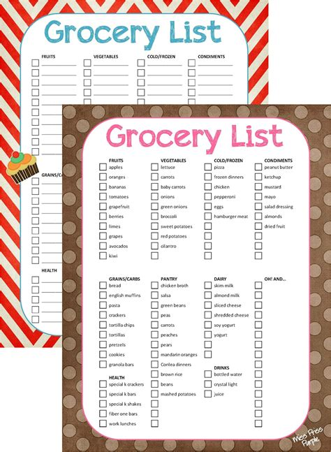 printable list than the grocery list template please grocery list template jpg png than the grocery list