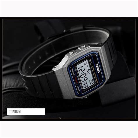 skmei jam tangan digital elegant pria  titanium