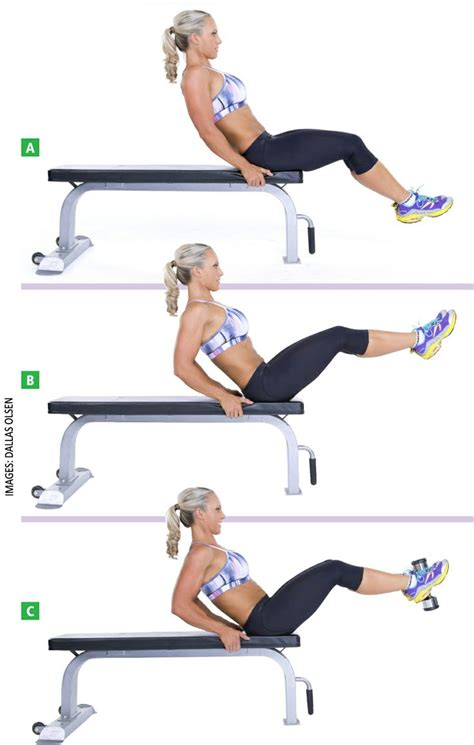 bench abs exercises flat bench lying leg raise target muscles abdominals