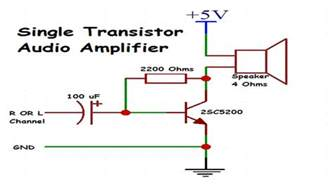 transistor lifier speaker 1 transistor audio lifier make audio lifier using only 1 transistor basic audio