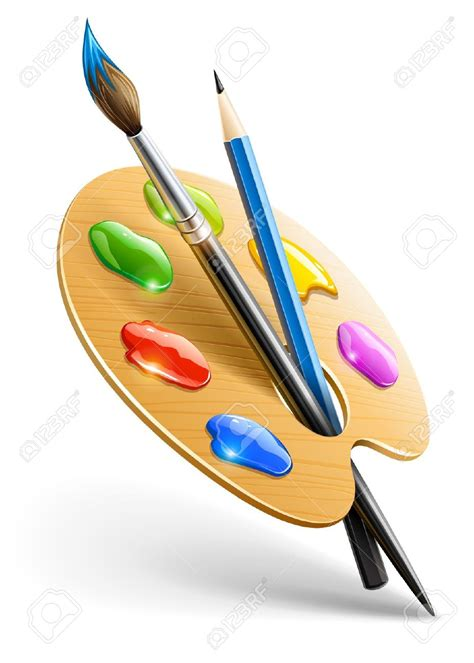 Painting Utensils by Clipart Painting Tools Free Collection