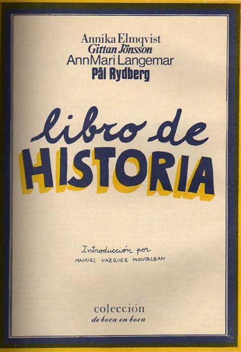 libro historium libro de historia editorial de boca a boca documentos comix los70