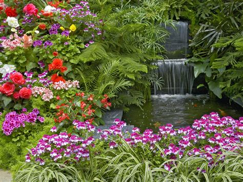 Hd Flower Garden Wallpaper Http Refreshrose Blogspot Com Beautiful Garden Flower