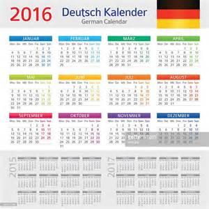 german calendar 2016 deutsch kalender 2016 vector art