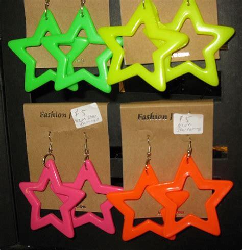 80s Accessories Earrings by Neon Earrings Backward Glances