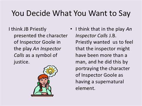 An Inspector Calls Essay On Inspector Goole by Essay Writing Gcse An Inspector Calls Wjec