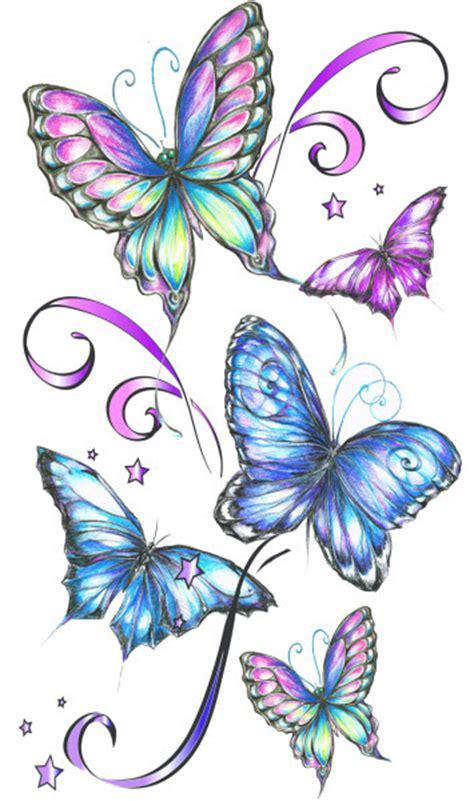fantasy butterflies tattooforaweek temporary tattoos