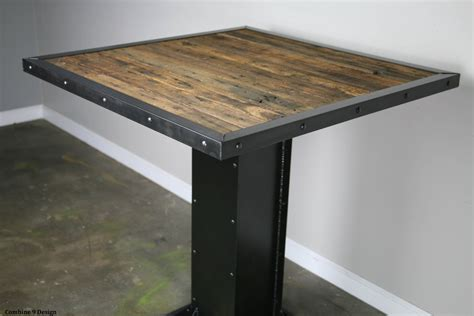 wood restaurant tables bistro dining table modern industrial design reclaimed wood