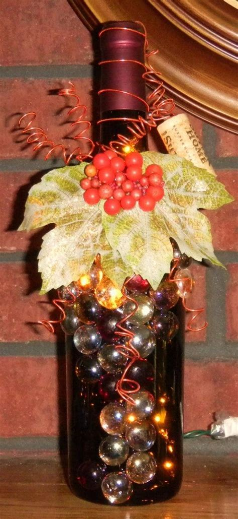 1000  images about Wine Bottle Lights on Pinterest   Diy